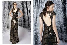 vestido negro y dorado invierno 2015 - Penny Love