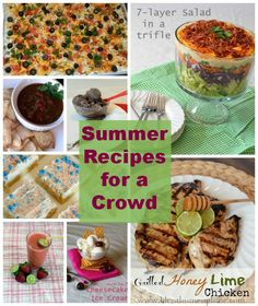 My favorite summer recipes - great recipes for a party that are crowd-pleasing and easy to make. Pin now, enjoy when it's time to party :)