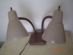 Vintage Double Goose Neck Desk Lamp Light Retro by PennyBunny, $30.00