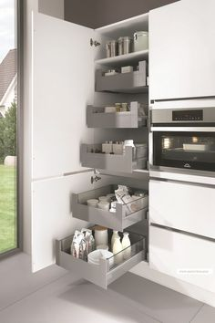 Kitchen storage space.