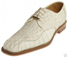 "Belvedere ""Chapo"" Bone All-Over Genuine Hornback Crocodile Shoes 1465."