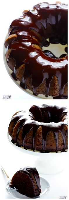 Greek Yogurt Chocolate Cake -- topped with a delicious chocolate glaze, and basically, AMAZING. | gimmesomeoven.com #dessert #desserts #dessertrecipes #yummy #delicious #food #sweet