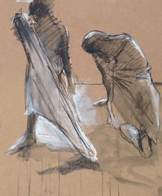 Life Drawing by David Hewitt Artist - Charcoal & Chalk #Art #Drawing #LifeDrawing #Charcoal