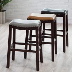 Belham Living Hutton Nailhead Bar Stool - Get designer-inspired style that you won't find anywhere else but Hayneedle! With the Belham Living Hutton Nailhead Bar Stool , you have the classic...