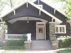 Exterior Paint Colors For House Bungalow Cottages 40 Ideas Exterior Stairs, Craftsman Exterior, Cottage Exterior, Craftsman Bungalows, Interior Exterior, Exterior Design, Craftsman Style, Exterior Paint Colors For House, Paint Colors For Home