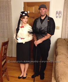 Easy Nostalgic Mary Poppins and Bert Couples Costume... Coolest Homemade Costumes