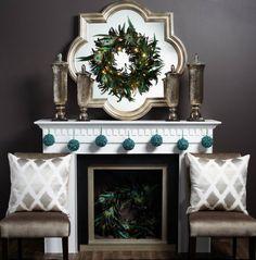 formal christmas mantel decor