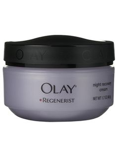 Olay Regenerist Night cream. Super creamy, silky and like a facial when you wake up! Love it!