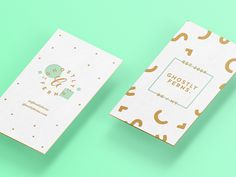 Ghostly Cards by Meg Lewis for Ghostly Ferns on Dribbble Foil Business Cards, Elegant Business Cards, Business Card Design, Graph Design, Id Design, Print Design, Flyer Design, Price Tag Design, Name Card Design
