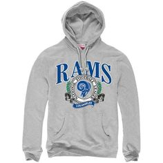 Los Angeles Rams Mitchell & Ness Fair Catch Pullover Hoodie - Heather Gray - $52.99