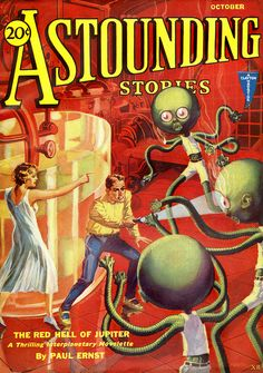 Portada de revista Astounding Stories - 1931