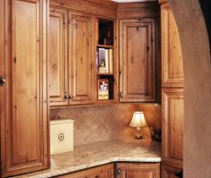 knotty alder kitchen cabinets, Love these. Knotty Alder Kitchen, Knotty Alder Cabinets, Distressed Cabinets, Rustic Kitchen Cabinets, Kitchen Redo, Kitchen Ideas, Craftsman Kitchen, Ikea Kitchen, Staining Cabinets