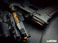 Onyx receiver set, Lancer Systems magazine, Elcan Specter DR sight.
