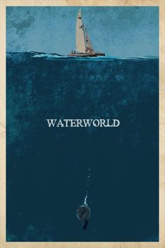 Minimalist Movie Poster: Waterworld by edgarascensao