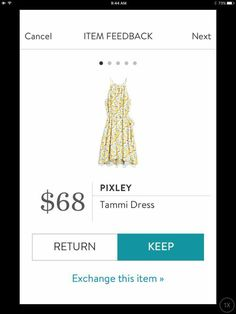 Pixley Tammi Dress, lemon print.