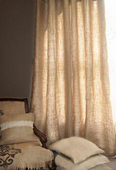 N'importe quelle couleur ou motif rideaux de toile de jute - ou tout autre tissu lin, chanvre, rideaux de lin Custom n'importe quoi ! PEU COÛTEUX