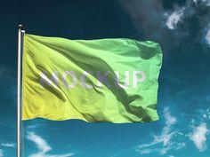 Free flag PSD Mockup
