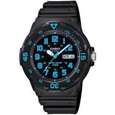 Casio Men's Sport Analog Blue-Accented Dive Watch - Walmart.com