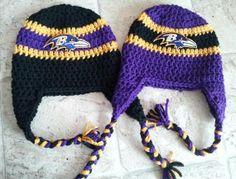 Hey, I found this really awesome Etsy listing at https://www.etsy.com/listing/125221290/baltimore-ravens-nfl-team-spirit-crochet