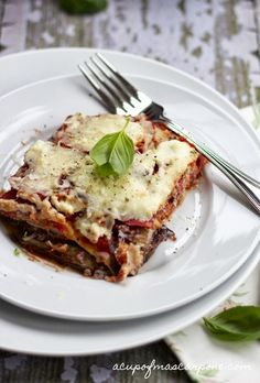 a cup of mascarpone: eggplant lasagna -- made without any noodles!
