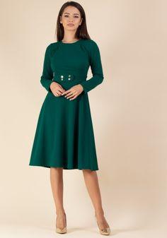 Colectie - Moze Fashion Smart Casual, Lady, High Neck Dress, Dresses For Work, Fashion, Green, Turtleneck Dress, Moda, Fashion Styles
