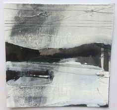 Drawing on gesso for new series