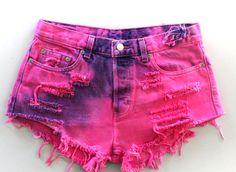 gotta love hot pink and purple cutoffs