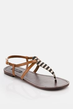cute striped sandals