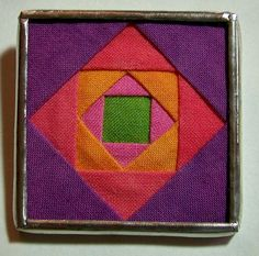Square in a Square Quilt Block Brooch made with Hand Dyed Fabrics. $25.00, via Etsy.