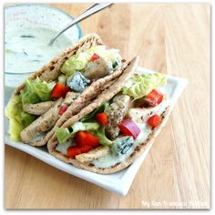 Chicken Gyros with Homemade Tzatziki