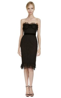 Shop Chantilly Lace Corset Dress by #Marchesa Now Available on Moda Operandi #SchoolofFlaunt fabulous!