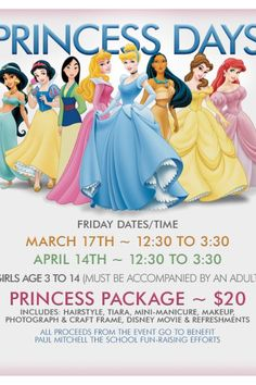 Princess day fundraising event