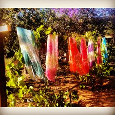 Paint with all thw colors of the wind! Find your summer scarves at www.elizabethkoh.com