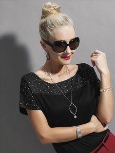 Selena Clear Quartz Drop Necklace