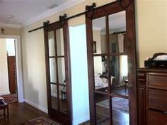 Interior Sliding French Doors we both absolutely want this in place of swinging french doors