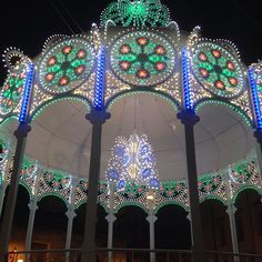 Illuminated bandstand for saint's day celebrations
