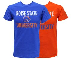 We Bleed Blue and Orange. T Bsu Perspective Lines Custom | Boise State Bronco Shop