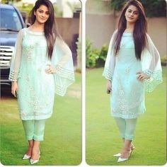 Image may contain: 2 people Pakistani Couture, Pakistani Dress Design, Pakistani Outfits, Indian Outfits, Indian Clothes, Western Outfits, Dress Indian Style, Indian Dresses, Suit Fashion