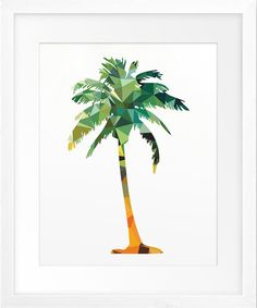 geometric palm tree