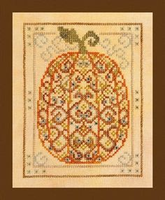 Ornamental Pumpkin - Cross Stitch Pattern. Are you ready for fall? We think this design would be great in a conservatory or kitchen, all year round!