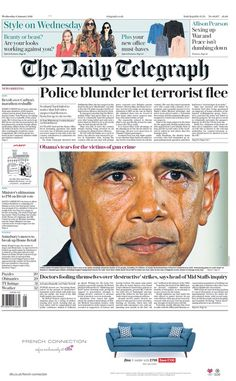 """Wednesday's Telegraph front page: Police blunder let terrorist flee The Daily Telegraph, Blog Planner, New You, You Must, Bbc, Wednesday, Police, January 2016, Let It Be"