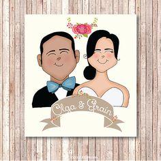 Save the Date - Original Wedding illustration