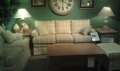 SEE IT, SNAP IT, POST IT Facebook contest entry: Plaid Living Room Set!