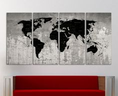 World Map Wall Decor large world map canvas print wall art multicolorinkartstudio