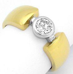 Foto 1, Neu! Traumdesign! River-D Brillant-Ring Luxus Portofrei, S8321