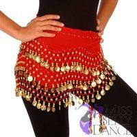 Belly Dance Chiffon Wavy Design Training Hip scarf - Ravising