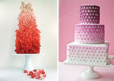 15 Fabulous Ombre Wedding Cakes - Belle the Magazine . The Wedding Blog For The Sophisticated Bride