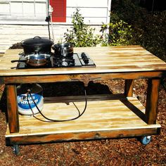 Outdoor Countertop Stove : My outdoor stove Log furniture Pinterest Outdoor Stove, Stove ...