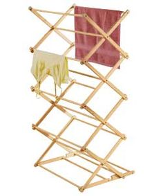 Living Wooden Concertina Indoor Clothes Airer.