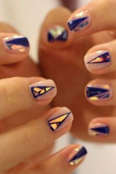 The latest trend in nail art is here — and it's pretty earth-shattering ;)